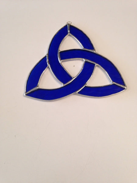 Blue Small Celtic Knot Stained Glass