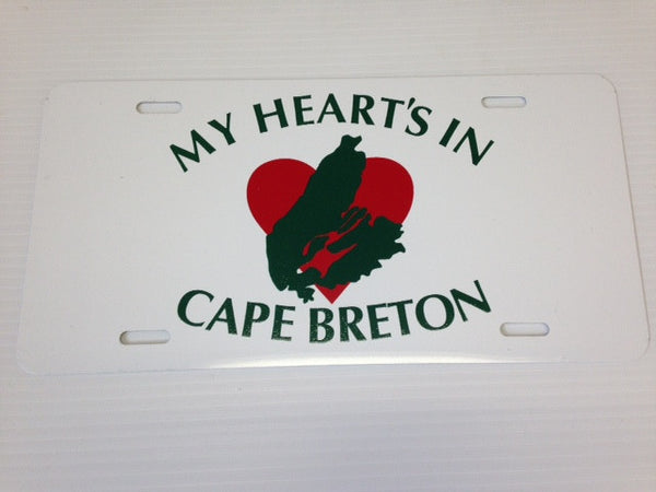 My Heart License Plate