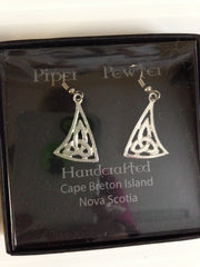 Piper Pewter Celtic Triangle Earrings-ER19