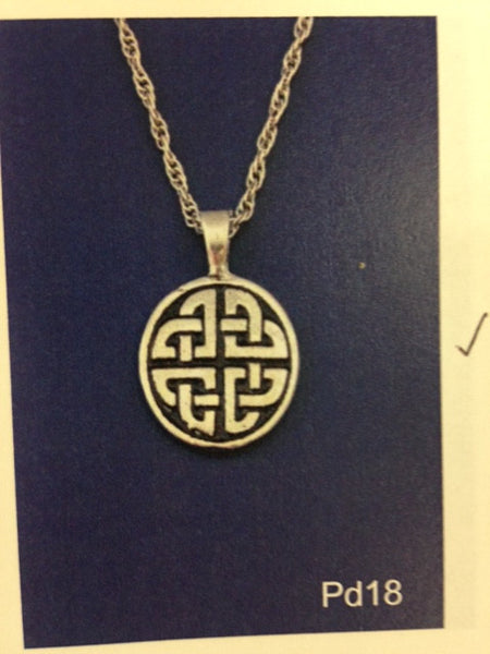 Celtic Round Pendant-PD18