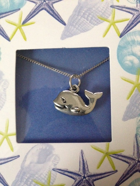Pewter Necklace with Whale Charm (CD-42)