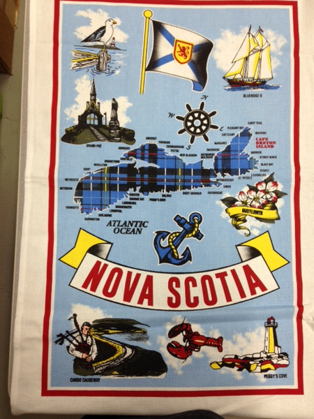 Tea Towel Nova Scotia Tartan Map