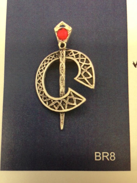 "Piper Pewter Celtic ""C"" Brooch-BR8"