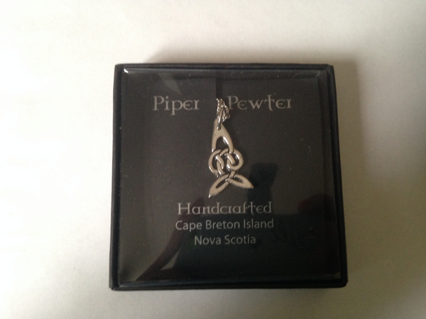 Piper Pewter Celtic Infinity Pendant-PD26