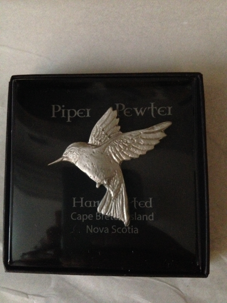Piper Pewter- Hummingbird Brooch-BR15