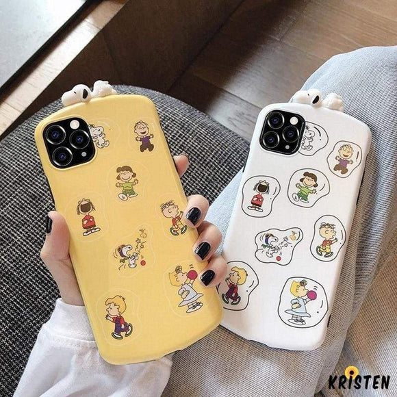 3d Snoopy Style Round Corner Shockproof Protective Designer Iphone Case for Iphone 12 Pro Max Mini