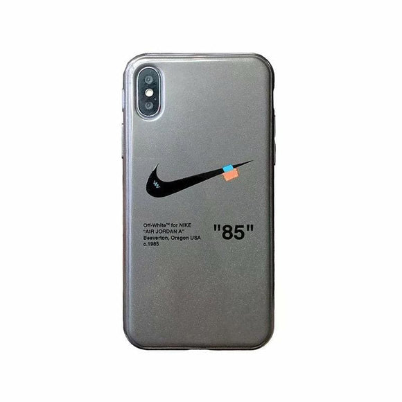 Adidas Nike Style Matte Silicone Designer Iphone Case for Se 11 Pro Max X Xs Xr 7 8 - Grey / iPhone SE (2nd Gen)