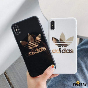 Adidas Style Electroplating Silicone Glossy Designer Iphone Case for Iphone 12 Pro Max Mini