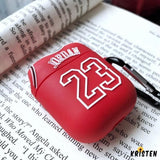 Air Jordan 23 Jersey Silicone Protective Shockproof Case for Apple Airpods 1 & 2 - AirPods