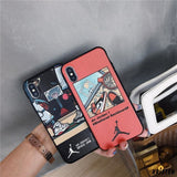 Air Jordan Nike Style Sneaker Matte Silicone Designer Iphone Case for X Xs Max Xr 7 8 plus - iPhone