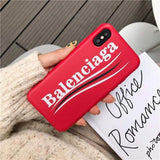 Balenciaga Stylish Sports Soft Silicone Curved Logo Iphone Case for Iphone 12 Pro Max Mini