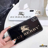 Burberry Style Electroplating Glossy Tpu Silicone Designer Iphone Case for Iphone 12 Pro Max Mini
