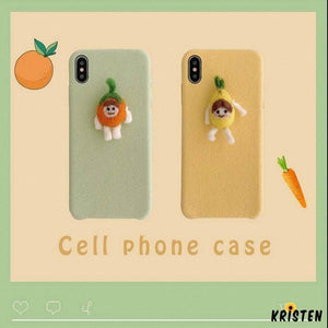 Carrotman Furry Shockproof Protective Designer Iphone Case for Se 11 Pro Max X Xs Xr 7 8 - iPhone