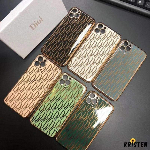 Christian Dior Style Electroplating Shockproof Protective Designer Iphone Case for 12 Pro Max Mini