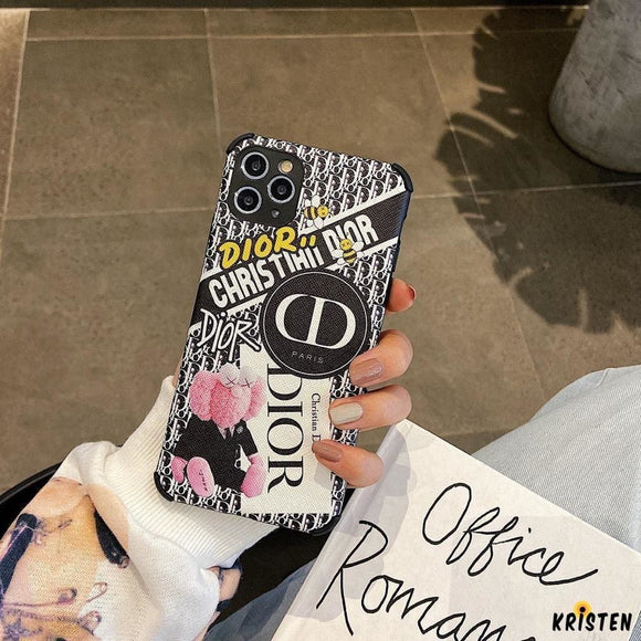 Christian Dior Style Fashion Corner Protection Shockproof Designer Iphone Case for Se 11 Pro - iPhone