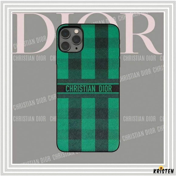 Christian Dior Style Green Shockproof Protective Designer Iphone Case for Iphone 12 Pro Max Mini