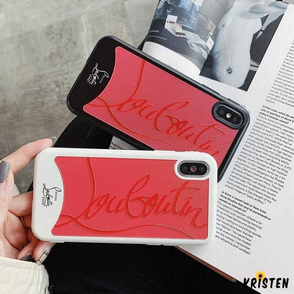 Christian Louboutin Style Red Silicone Bumper Luxury Designer Iphone Case for Se 11 Pro Max - iPhone