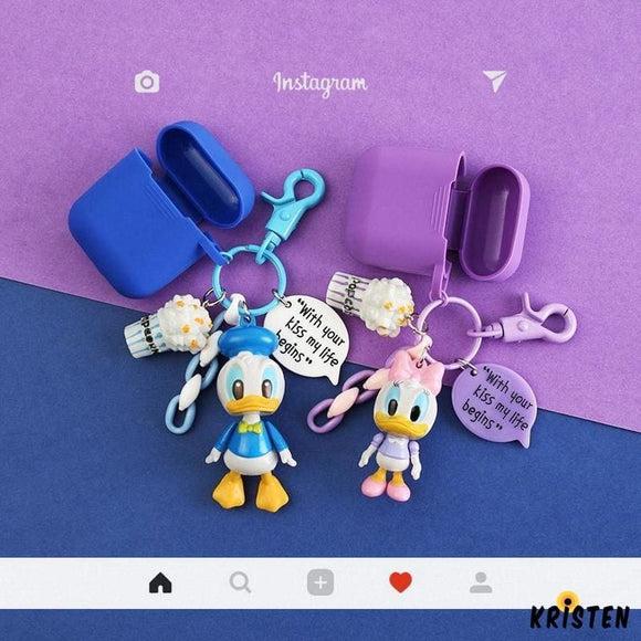 Daisy Donald Duck Disney Silicone Protective Shockproof Case for Apple Airpods 1 & 2 - AirPods
