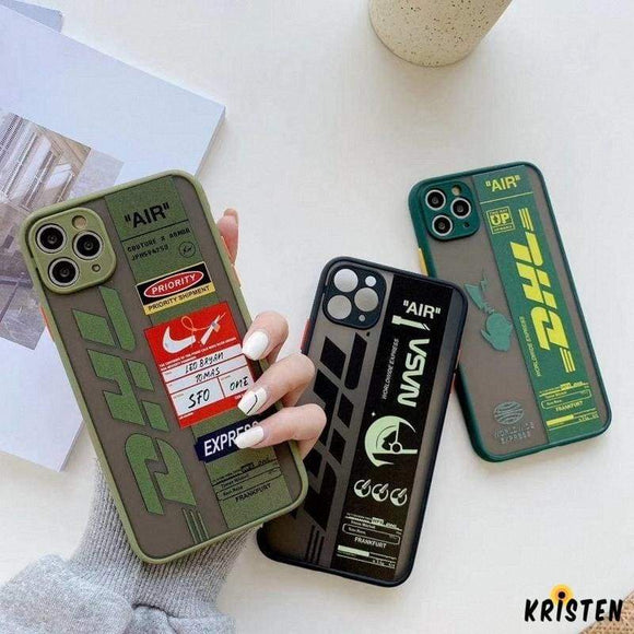 Dhl Series Matte Silicone Shockproof Protective Designer Iphone Case for Iphone 12 Pro Max Mini
