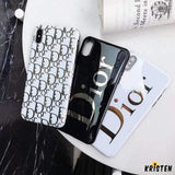 Dior Style Electroplating Glossy Tpu Silicone Designer Iphone Case for Se 11 Pro Max X Xs - iPhone