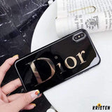 Dior Style Electroplating Glossy Tpu Silicone Designer Iphone Case for Iphone 12 Pro Max Mini Xs