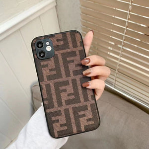 Fendi Style England Protective Designer Iphone Case for 12 Pro Max Mini