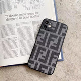 Fendi Style England Protective Designer Iphone Case for 12 Pro Max Mini - 2 / iPhone mini