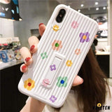Floral Kickstand Silicone Shockproof Protective Designer Iphone Case for Iphone 12 Pro Max Mini