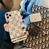 Gucci Style Silica Gel Protective Designer Iphone Case for 12 Pro Max Mini - white / iPhone mini