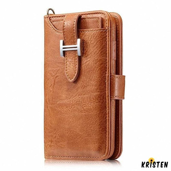 Hermes Style Luxury Retro Leather Phone Bag Magnetic Cases for Iphone Se 11 Pro Maxx Xs Xr Xsmax 7 8 - iPhone Case