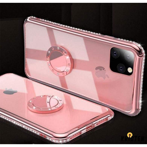 Jewel Ring Holder Bumper Frame Designer Iphone Case for Iphone 12 Pro Max Mini