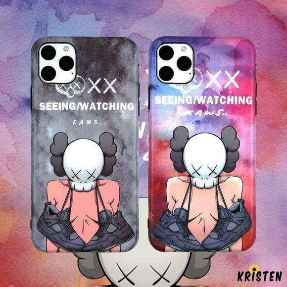 Kaws Style Silicone Shockproof Protective Designer Iphone Case for Iphone 12 Pro Max Mini