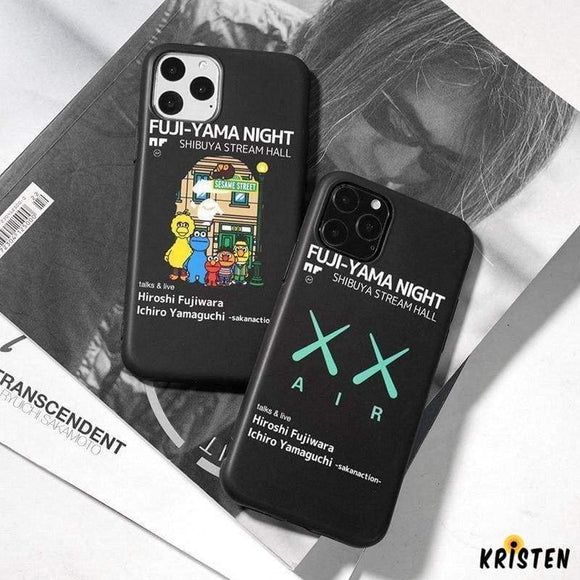 Kaws X Nike Style Silicone Shockproof Protective Designer Iphone Case for Iphone 12 Pro Max Mini