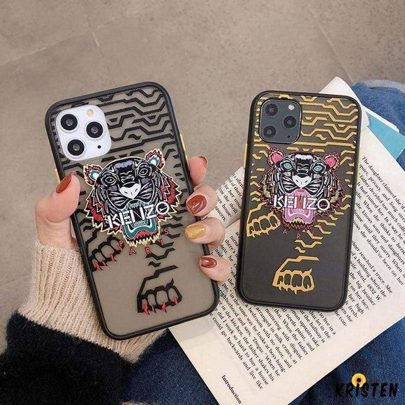 Kenzo Style Matte Silicone Shockproof Protective Designer Iphone Case for Iphone 12 Pro Max Mini