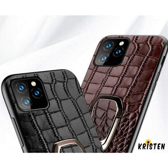 Leather Ring Holder Bumper Designer Iphone Case for Iphone 12 Pro Max Mini