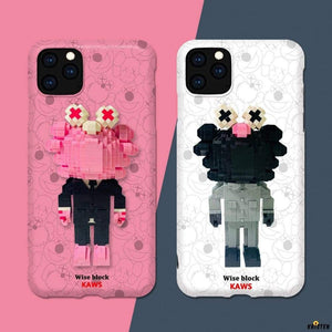 Lego Kaws Toy Silicone Shockproof Protective Designer Iphone Case for Iphone 12 Pro Max Mini
