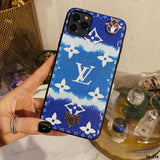 Louis Vuitton Style Candy Luxury Leather Shockproof Protective Designer Iphone Case for Se 11 - iPhone