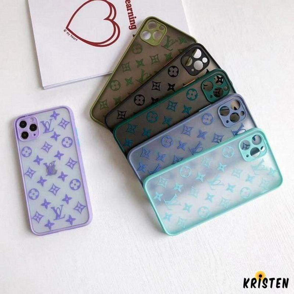 Louis Vuitton Style Clear Matte Protective Designer Iphone Case for Iphone 12 Pro Max Mini