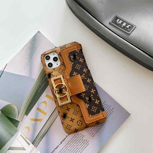 Louis Vuitton Style Luxury Leather Cardholder Wallet Protective Designer Iphone Case for Se - iPhone