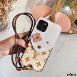 Louis Vuitton Style Mouse Luxury Leather Shockproof Protective Designer Iphone Case for 12 Pro Max Mini