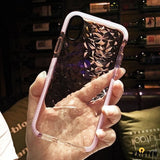 Luxury Diamond Transparent Soft Liquid Silicone Waterproof Shockproof Iphone Case for X Xs - iPhone