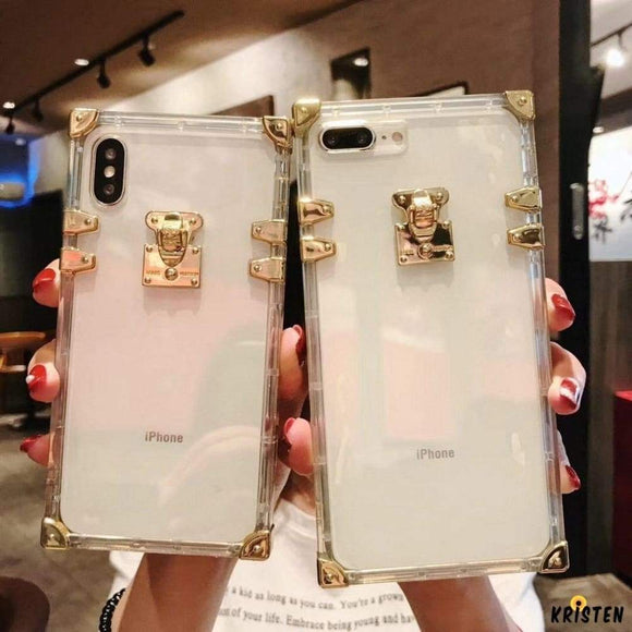 Luxury High Fashion Perfume Clear Silicone Iphone Protective Trunk Case for Iphone 12 Pro Max Mini