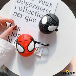 Marvel Style Spiderman Face Silicone Protective Shockproof Case for Apple Airpods 1 & 2 - AirPods
