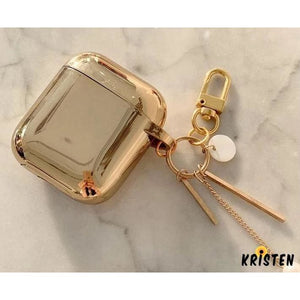 Metallic Gold Plating Hard Protective Shockproof Case for Apple Airpods 1 & 2 - AirPods