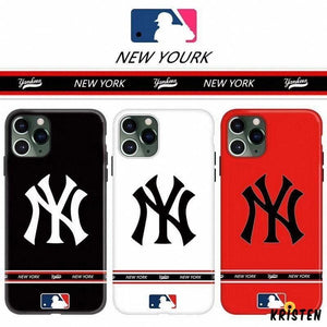 Mlb Style Classic Glossy Shockproof Protective Designer Iphone Case for Se 11 Pro Max X Xs - iPhone