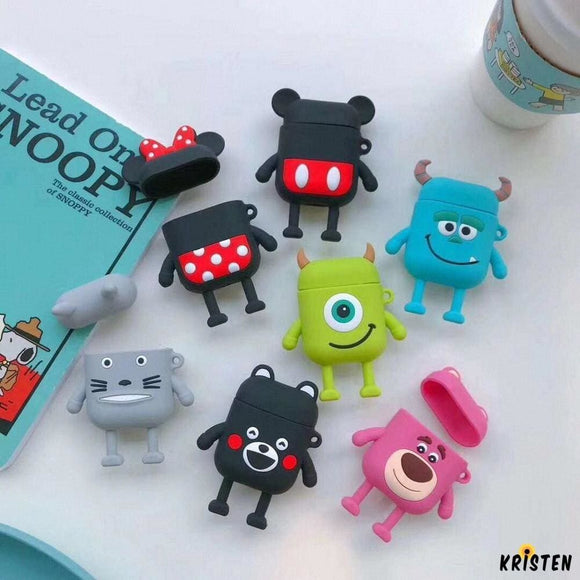 Monster University Minnie Mickey Silicone Protective Shockproof Case for Apple Airpods 1 & 2 - AirPods