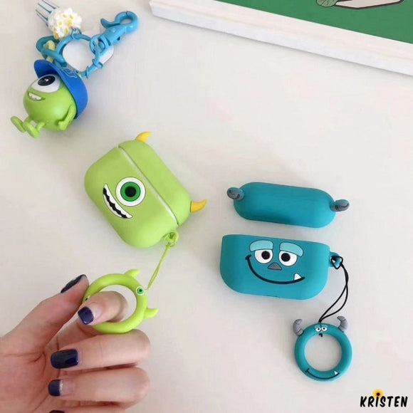 Monster University Style Silicone Protective Shockproof Case for Apple Airpods Pro - AirPods