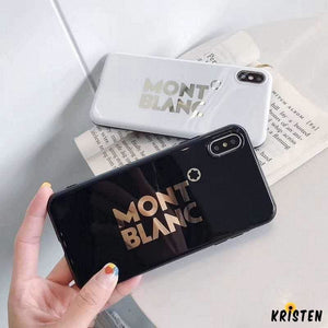 Mont Blanc Style Electroplating Glossy Tpu Silicone Designer Iphone Case for Se 11 Pro Max X - iPhone