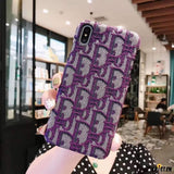 More Colors Dior Style Classic Fabric Silicone Designer Iphone Case for Se 11 Pro Max X Xs - iPhone