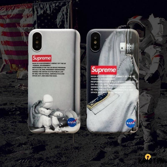 Nasa X Supreme Style Silicone Shockproof Protective Designer Iphone Case for Se 11 Pro Max - iPhone